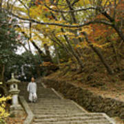 Autumn Stairway Art Print