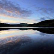 Autumn Sunset, Ladybower Reservoir Derwent Valley Derbyshire Art Print