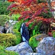 Autumn Waterfall - Digital Art 5x3 Art Print