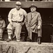 Babe Ruth And John Mcgraw Art Print