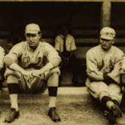 Babe Ruth On Far Left With The Boston Red Sox 1915 Art Print