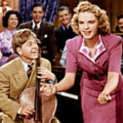 Babes In Arms, From Left Mickey Rooney Art Print by Everett