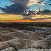 Badlands Np Wilderness Overlook 4 Art Print