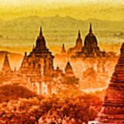 Bagan Pagodas Art Print