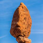 Balanced Rock In Arches National Park Near Moab  Utah At Sunset Art Print