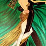 Ballroom Dancers Champagne Tango Art Print