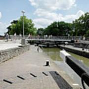 Bancroft Basin - Canal Lock Art Print