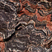 Banded Gneiss Rock Art Print
