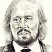 Barry Gibb Portrait Art Print