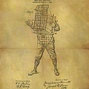Baseball Catcher's Mask Patent Art Print