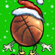 Basketball Christmas Art Print