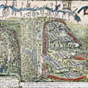 Battle Of Lake George, 1755 Art Print
