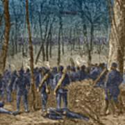 Battle Of The Wilderness, 1864 Art Print