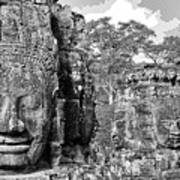 Bayon Faces  Art Print