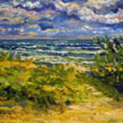 Beach At Delray Art Print