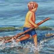 Beach Enterprise Art Print