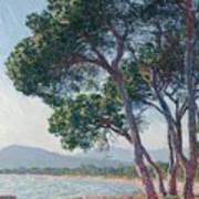 Beach Of Juan Les Pins Art Print