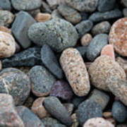 Beach Of Stones Art Print