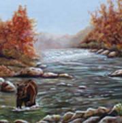 Bear In Fall Art Print