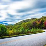Beautiful Autumn Landscape In North Carolina Mountains Art Print