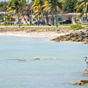 Beautiful Beach And Ocean Scenes In Florida Keys Art Print