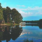 Beautiful Bunn Lake - Zebulon, North Carolina Art Print