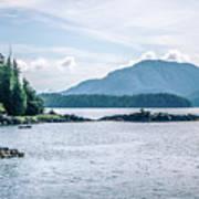 Beautiful Landscape In Alaska Mountains  Art Print