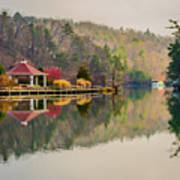 Beautiful Landscape Near Lake Lure North Carolina Art Print