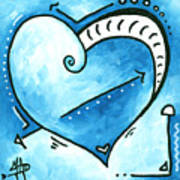 Beautiful Original Acrylic Heart Painting From The Pop Of Love Collection By Madart Art Print