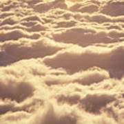Bed Of Puffy Clouds Art Print