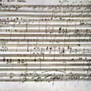 Beethoven Manuscript Art Print by Granger