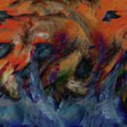 Beneath The Waves Print by Linda Sannuti