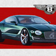 Bentley E X P  10 Speed 6 With  3 D  Badge  Art Print