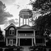 Bentonville Arkansas Water Tower - Black And White Art Print