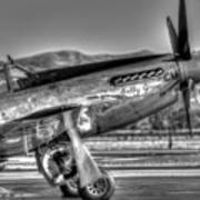Betty Jane P51d Mustang At Livermomre Art Print