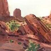 Between The Buttes Art Print