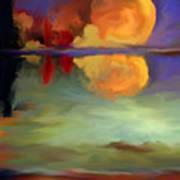 Beyond Sunset Pond Art Print