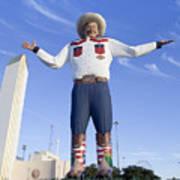Big Tex In Dallas Texas Art Print