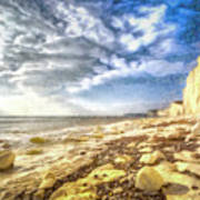 Birling Gap And Seven Sisters Art Art Print