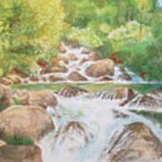 Bishop Creek South Fork Art Print by Charles Hetenyi