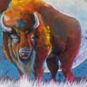 Bison Moon Art Print
