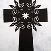 Black Butterfly-cross Art Print
