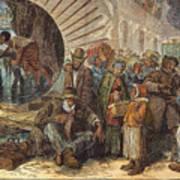Black Exodus, 1880 Art Print