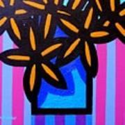 Black Eyed Flowers  Art Print