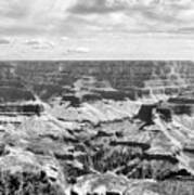 Black Grand Canyon  Art Print