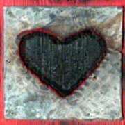 Black Heart Art Print by Jane Clatworthy
