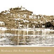 Blankenese, Hamburg, Germany Suburb, Elbe River, 1903 Art Print