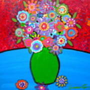 Blooms 3 Print by Pristine Cartera Turkus