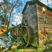 Blowing Cave Mill Near Smoky Mountains Of East Tennessee Art Print