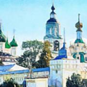 Blue Church Art Print